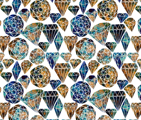 Painted Gemstones fabric by rubydoor on Spoonflower - custom fabric