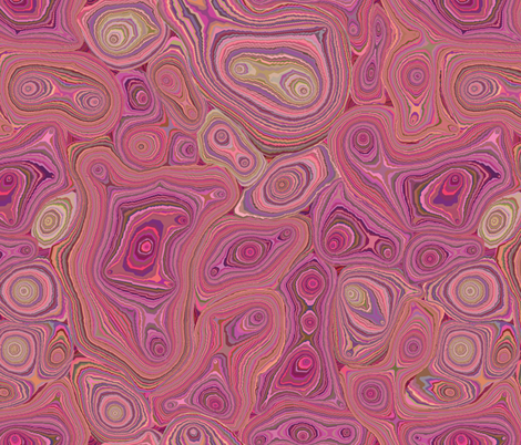 Mineralicious-Pink Agate fabric by groovity on Spoonflower - custom fabric