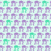 Purple and Mint AT-AT's on Mint Chevrons