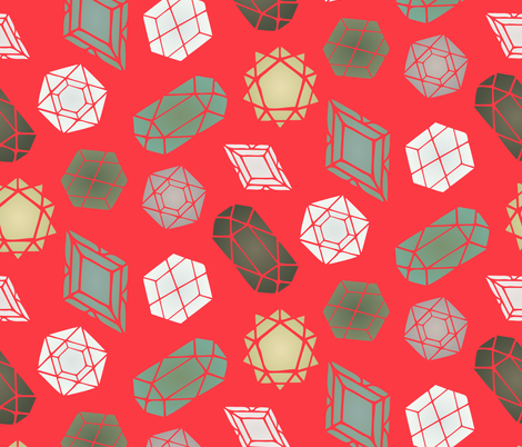Bright Geometric Gemstones fabric by radianthomestudio on Spoonflower - custom fabric