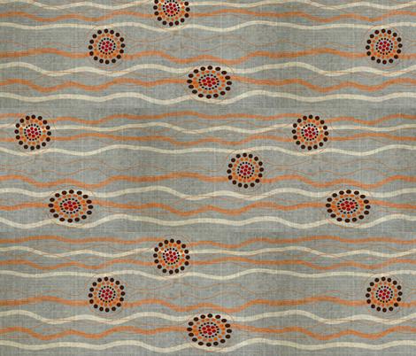 Mining for Garnet - medium grey fabric by vanillabeandesigns on Spoonflower - custom fabric