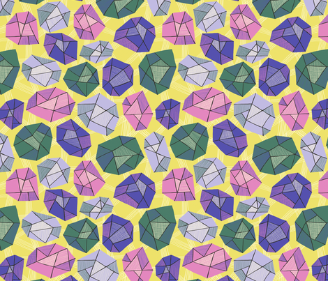 Gems + Geodes fabric by emilybluestar on Spoonflower - custom fabric