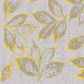 burlap grey and yellow