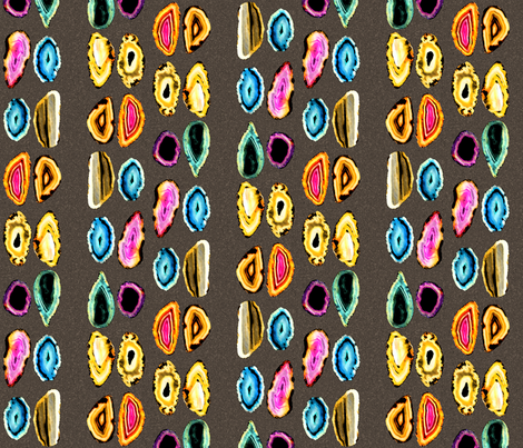 Agates fabric by patters on Spoonflower - custom fabric