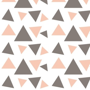 Peach & Gray triangles