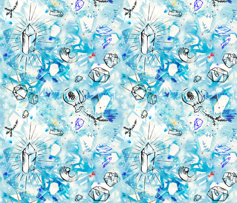 Crystal_Sparkles fabric by sandie_tee on Spoonflower - custom fabric