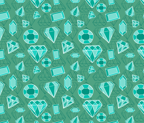 Emerald avalanche fabric by katielenius on Spoonflower - custom fabric