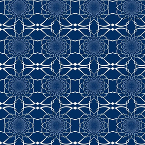 Large Navy Pattern