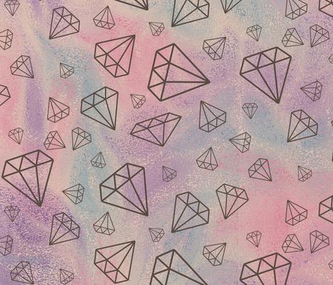 Gem_ocean_ripple_single-01 fabric by dahbeedo on Spoonflower - custom fabric