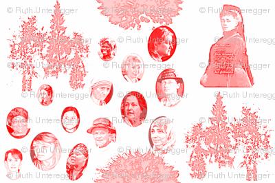 All women nobel peace price winners honored in a garden