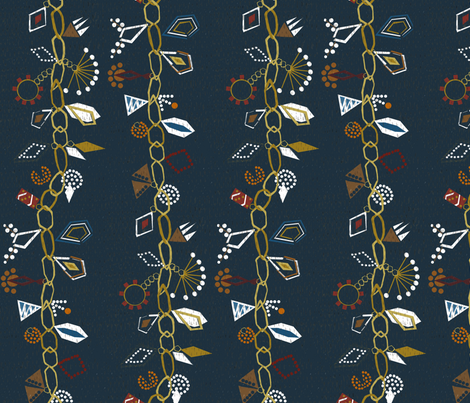 Vintage gems  fabric by mirjamauno on Spoonflower - custom fabric