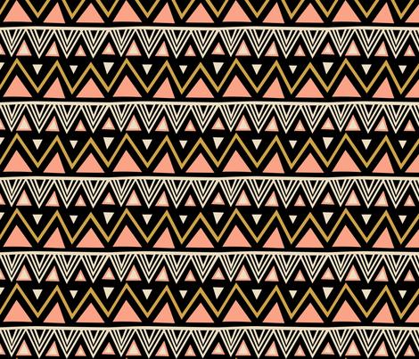 Tribal - Black Peach (Large)
