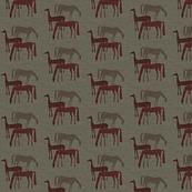 horses dark linen-ed