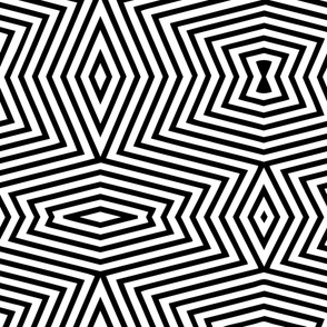 Black white op art