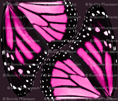 Pink Monarch Butterfly Wings
