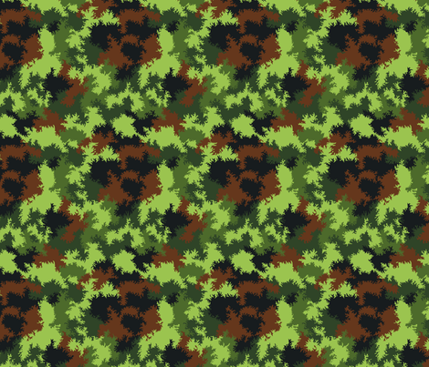1/6th Scale German Sawtooth Fleck Camo fabric by ricraynor on Spoonflower - custom fabric