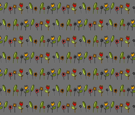 A Boy's Flowers To His Mama fabric by dianef on Spoonflower - custom fabric