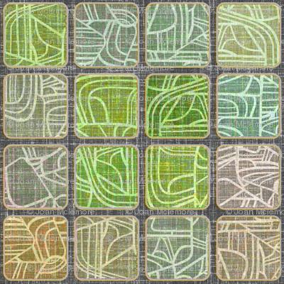 Danish Modern Squares Driftwood
