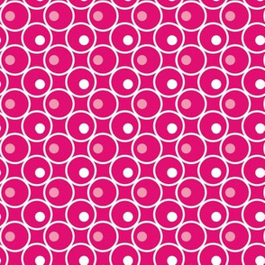 Circle and a Dot - Hot Pink