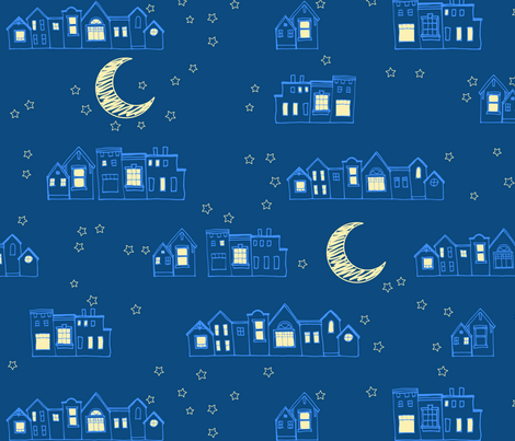 Bedtime Village fabric by mrshervi on Spoonflower - custom fabric