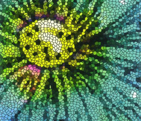 MOSAIC FLOWER 1 YARD PANEL