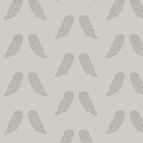 Owls - Dove Gray