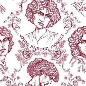Jane Burden Morris Burgundy