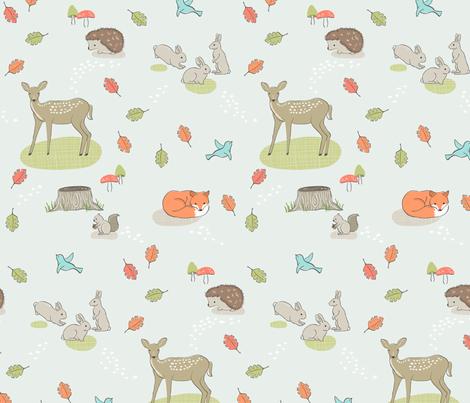 Woodland Walk fabric by katherinelenius on Spoonflower - custom fabric