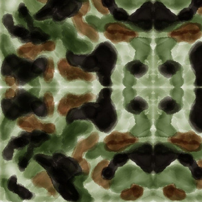 Fashion camouflage in watercolor
