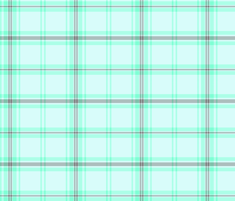 Faded Teal & Grey Plaid