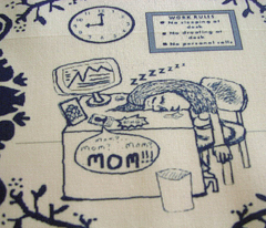 Tired Working Mom Toile de Jouy