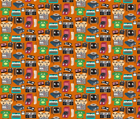 Unhappy Electronics fabric by heidikenney on Spoonflower - custom fabric