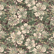 Camouflage Hawaiian Shirt Pattern