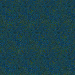 Paisley green/blue