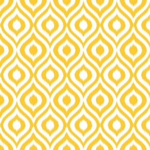 Yellow Ikat Ogee