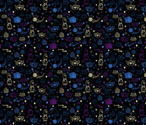 Bedtime fabric by yaskii on Spoonflower - custom fabric