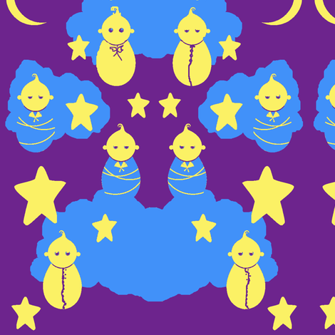 Sleepy Babies fabric by robin_rice on Spoonflower - custom fabric