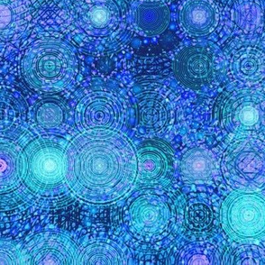 Star Tracks in Blue