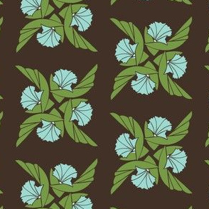 Radial Floral in Green & Aqua