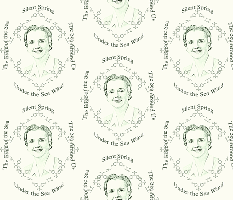 Rachel Carson toile fabric by dkdemott on Spoonflower - custom fabric