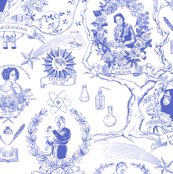 Women of Science and Learning Toile de Jouy