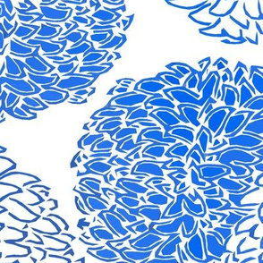 Ming Chrysanthemum in Blue