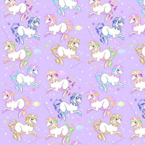 Small candy ponies fabric lovelylatte spoonflower for Planet print fabric