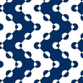 Polka Dot Chevrons Navy