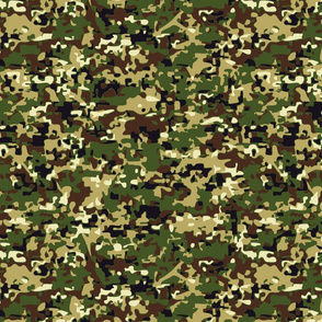Faux Digital Woodland Camo