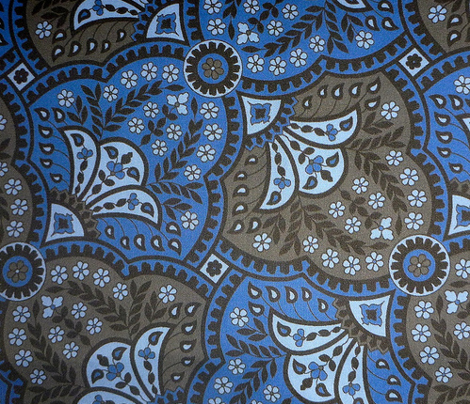 paisley hourglass blue/grey