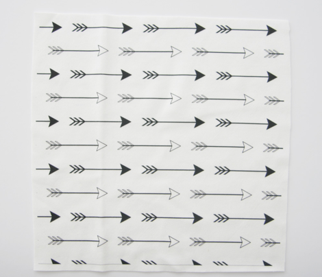 Arrows Black and White Horizontal