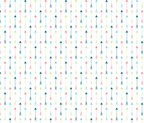 Colourful Arrows Vertical fabric by sierra_gallagher on Spoonflower - custom fabric