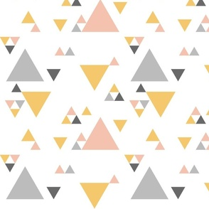 Triangles - Pink, Marigold, Grey, & Charcoal