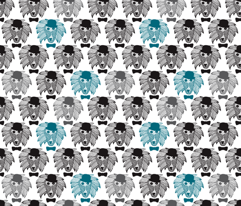 Hipster baboon monkey illustration fabric by littlesmilemakers on Spoonflower - custom fabric